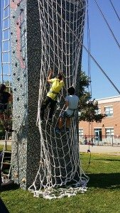 CrossFit Tactical climbing tower with rope ladders, cargo nets, knotted ropes and more elements!