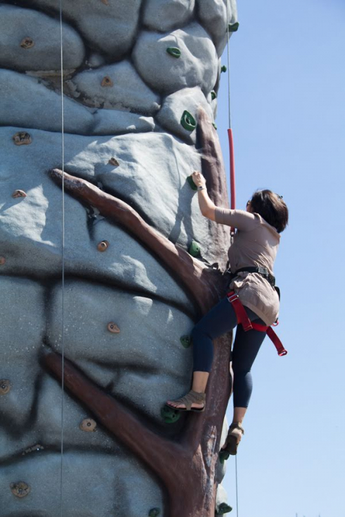 25ft Mobile Rock Wall with waterfall