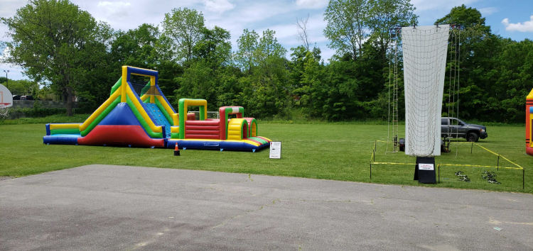 Fun Zone Rock Wall & Obstacle course